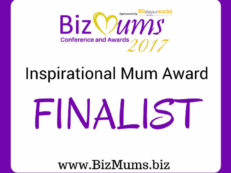 BizMums Inspirational Mum Award Finalist 2017